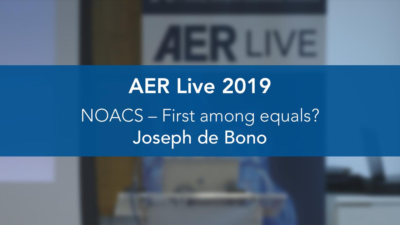 NOACS – First Among Equals?